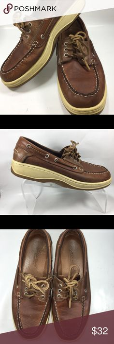 Eddie Bauer Brown Leather Moc Toe Boat Shoes Size9 Very Good Condition Some Normal Wear Including Some Scuffing See Pictures. Eddie Bauer Brown Leather Moc Toe Boat Shoes Size 9M Shoe #S191 Eddie Bauer Shoes Loafers & Slip-Ons