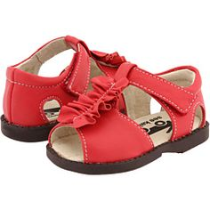 See Kai Run Merrilee Sandals.  Red only found at Zappos.