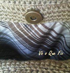 Vê O Que Fiz Crochet Handbags, Coin Purse, Cufflinks, Wallet, Purses, Facebook, Accessories, Crochet Bags, Pocket Wallet