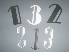 Art Deco, The Roaring 20's, Alphabet and numbers for weddings, bridal showers, anniversaries, birthday parties, scrap booking. $6.00, via Etsy.