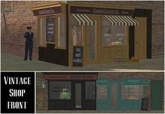 Vintage Shop Front The Sims 2, Sims Cc, Shop Fronts, Just Amazing, One Pic, Workplace, Vintage Shops, Shopping, Community