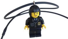 Female Police Officer Minifigure Necklace