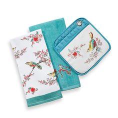 Simply Fine Lenox® Chirp Kitchen Towel Ensemble - BedBathandBeyond.com