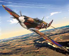 Le Spitfire le chasseur britannique Le supermarine Spitfire ou cracheur de feux, est sans doute, l'avion de chasse le plus célèbre de la Seconde Guerre Mondiale. Appartenant à la flotte de Royal Air Force Britannique, il a participé, avec toutes ses variantes à toutes les grandes batailles de la Seconde Guerre Mondiale.