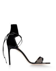 Reed Krakoff Mesh Ankle Wrap Sandal