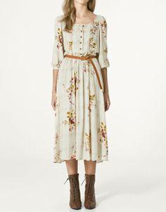 Zara Vintage Floral Dress with Belt - $69.90