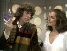 4th Doctor (Tom Baker) and Romanadvoratrelundar (Romana for short) Mary Tamm in The Ribos Operation.