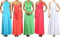 SUPER SEXY CONVERTIBLE MAXI DRESS INFINITY WRAP Long Wedding Multi Way Bridesmaid S M L