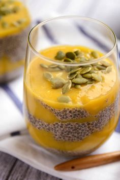 Simple and Sweet Mango Chia Pudding.  Also check her website for more diving recipes:  Blissful Basil.  Thank you for sharing.