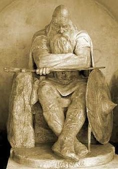 "Sculpture of Gorm ""The Old"" Hardeknudsson King of Denmark   (my 34th G-Grandfather)"