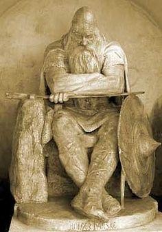 Hans Peder Pedersen-Dan's statue of Holger Danske at Kronborg castle, Denmark
