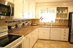 keeping the clutter off the counter, cleaning tips, kitchen design