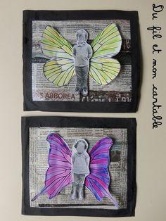 Du fil et mon cartable : Fête des pères : Papillons !