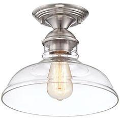 "$129Virgil 11"" Wide Brushed Nickel Ceiling Light"
