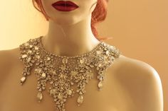Vintage inspired beading gives a nostalgic picturesque look to every wedding attire. Each piece is carefully handcrafted using opulent swarovski stones and silk