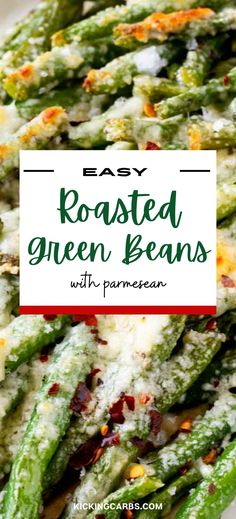Roasted Green Beans with Parmesan are a healthy, satisfying, and fun side that even the kids love! With just a handful of ingredients, and requiring only a few minutes of hands-on time, this keto-friendly recipe is perfect when you need a fast meal without a lot of fuss. Who knew vegetables could be so addictively good? Gluten Free Recipes For Breakfast, Healthy Gluten Free Recipes, Gluten Free Dinner, Healthy Dinner Recipes, Vegetarian Recipes, Healthy Meats, Roasted Green Beans, Parmesan, Holiday Recipes