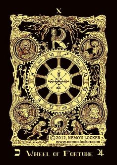 BOOK OF AZATHOTH TAROT DECK - Wheel of Fortune