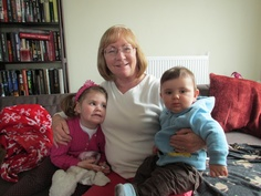 Beth, Zoe and Max , my great grand kids