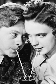 Mickey Rooney and Judy Garland in Babes in Arms, 1939