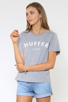 Huffer Stella Tee / Huffer 1997 - Short Sleeve Tees | North Beach Teen Fashion, Fashion Beauty, North Beach, Statement Tees, Tee Online, Short Sleeve Tee, T Shirts For Women, Amanda