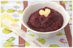 Recette pour bébé 6 mois Compote betterave rouge pomme