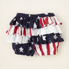 newborn - outfits - americana - Americana ruffle shorts | Childrens Clothing | Kids Clothes | The Childrens Place
