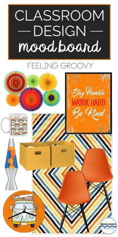 Make your classroom groovy with this inspired classroom mood board! High School Classroom, English Classroom, Classroom Door, Classroom Design, Future Classroom, Classroom Themes, Classroom Organization, Board For Kids, English Activities
