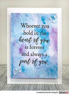 Card by Rachel Greig using Darkroom Door 'Part Of You' Quote Stamp