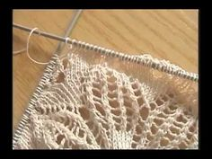 Tejido Cinco Agujas Parte IV de V - YouTube Easy Knitting Patterns, Crochet Stitches Patterns, Loom Patterns, Lace Knitting, Knitting Designs, Knitting Stitches, Crochet Bows, Crochet Shawl, Crochet Doilies