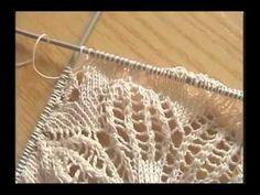 Tejido Cinco Agujas Parte IV de V - YouTube Easy Knitting Patterns, Crochet Stitches Patterns, Loom Patterns, Lace Knitting, Knitting Designs, Knitting Stitches, Crochet Bows, Crochet Shawl, Crochet Doilies