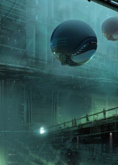 The awesome science fiction themed paintings and illustrations of Simon Fetscher. Based in Gothenburg, Sweden, Simon is a freelance concept artist and illustrator. Arte Sci Fi, Sci Fi Art, Sci Fi Environment, Environment Design, Matte Painting, Watercolor Paintings, Sci Fi Fantasy, Fantasy World, Dreamland