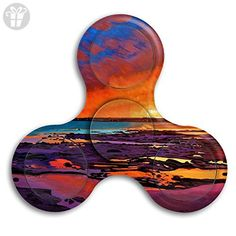 Tri Spinner Spinner Fidget Toy Hand Tri-Spinner Sunset Beach Oil Painting Stress Free Stress - Fidget spinner (*Amazon Partner-Link)