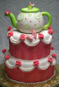 Teapot cake - beautiful ruffles