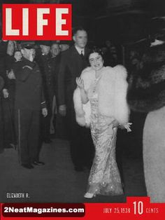 Life Magazine July 25, 1938 : Cover - Queen Elizabeth of England, inside six pages of photos and story.