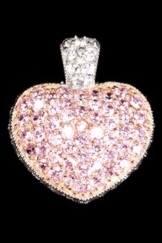 Sephora Jewelers  Sterling Silver & Pink Pave Zirconia Heart Pendant  $85.00