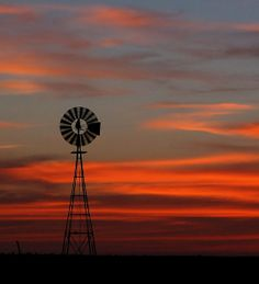 Windmill silhouette against a West Texas sunset by Shot On Site Photography shotonsitephotography.com