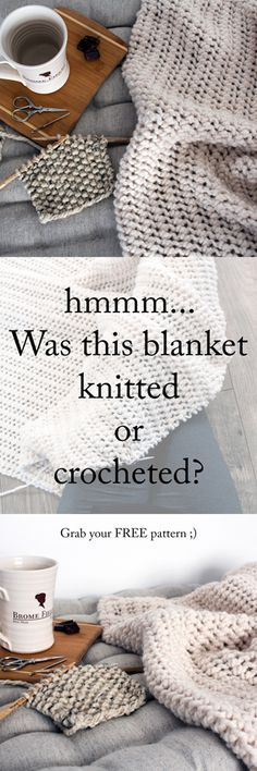 Was this blanket knitted or crocheted?