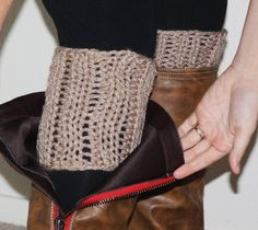 Chunky Knit Boot Sock Cuffs  Beige Cozies Socks  by TrulySimple, $23.00
