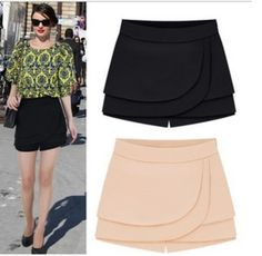 Short Saia Camada Dupla Short Skirts, Short Dresses, Moda Minimal, Velvet Shorts, Ripped Shorts, Casual Outfits, Fashion Outfits, Type Of Pants, Chor
