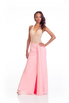 Roxanne Didier-Nicholas Miss Saint Lucia in her evening dress for Miss Universe.
