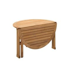 Bristol Round Gateleg Outdoor Teak Outdoor Dining Table - Frontgate