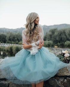 Something blue... Dusty blue tulle skirt by Bliss Tulle