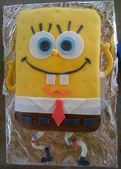 An easy SpongeBob SquarePants cake design.
