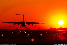 Aeroflot Ilyushin Il-76MD   Beautiful Russian sunset landing!  Photographer Egor Naumenko