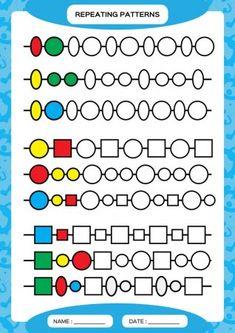 Patterns Worksheet for Preschool. 24 Patterns Worksheet for Preschool. Plete Repeating Patterns Worksheet for Preschool Kids Practicing Toddler Learning, Preschool Learning, Teaching, Kindergarten Worksheets, Preschool Activities, Pattern Worksheet, Math Patterns, Learning Through Play, Printable Worksheets