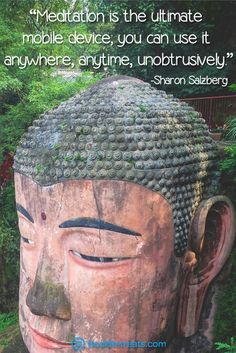 """""""Meditation is the ultimate mobile device; you can use it anywhere, anytime, unobtrusively."""" Stop browsing endless images for one second and check out these life-changing meditation quotes by Sharon Salzberg and other teachers here: http://bookretreats.com/blog/101-quotes-will-change-way-look-meditation"""