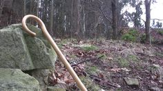 """In one of our regular outings in the woods, we decided to record some simple pictures of our flagship product, the """"cachaba"""", the walking stick. We just want to show how this staff meets the environment since the end of the day between the stones, the trees and those snows came the cane itself. Enjoy it, is simple."""