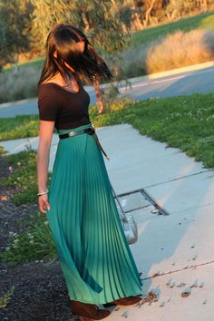 Maxi Skirt    http://www.chictopia.com/photo/show/625656-Afternoon+De+light-teal-maxi-skirt-thrifted-vintage-skirt-black-zara-boots