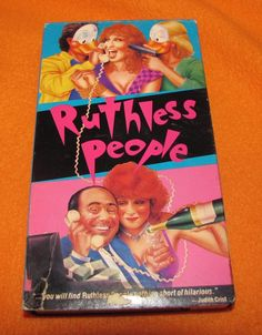 Ruthless People (VHS, for sale online Danny Devito, Bette Midler, Hilarious, Cover, People, Ebay, Hilarious Stuff, People Illustration, Funny