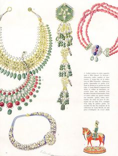 Cartier (Jewels) 1938 Jeanne Toussaint (Cartier) Indian Pendant Clip, Coco Chanel Necklace Ruby and Emerald.... E. Lindner